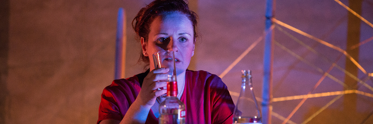 Netting by Morna Young. Actor - Sarah McCardie (Sylvia). Photograph credit Sid Scott